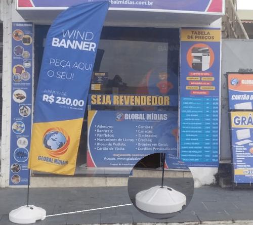 Wind Banner Personalizado   Base Plástico