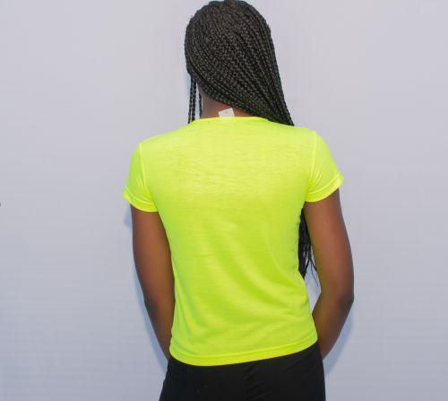 Baby Look Verde Neon Claro Personalizada