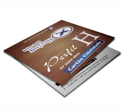 Cartão Duplo | c/ Verniz Local | DuoDesign | 4x1